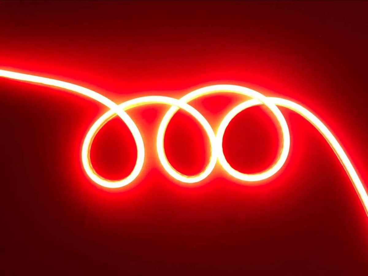 LED Neon Flex Slang Rood 1 meter 8mm x 16mm - Funnylights kopen