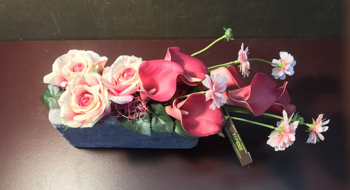 Kunstbloemen - Zijde Bloemstuk roze kopen