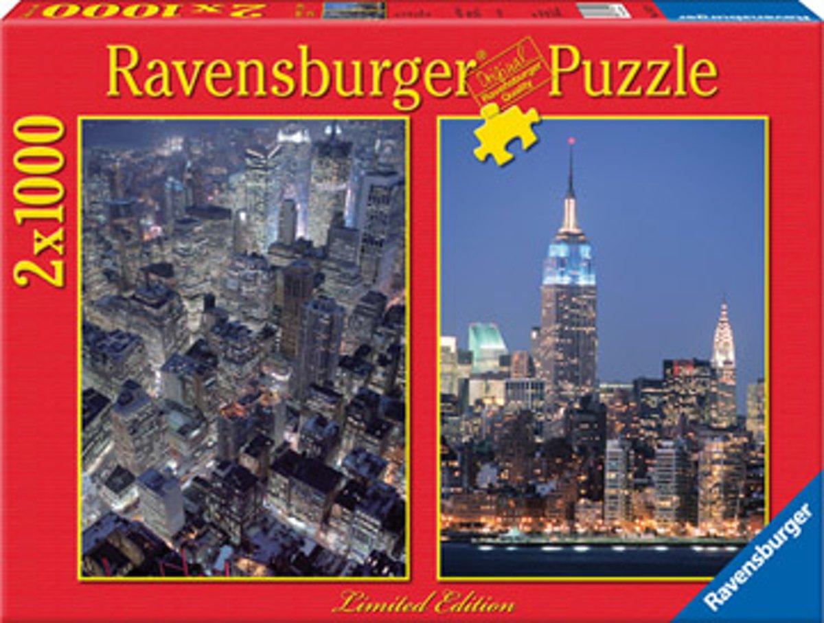 2 Legpuzzels - 1000 stukjes - Skylines - Ravensburger Puzzel