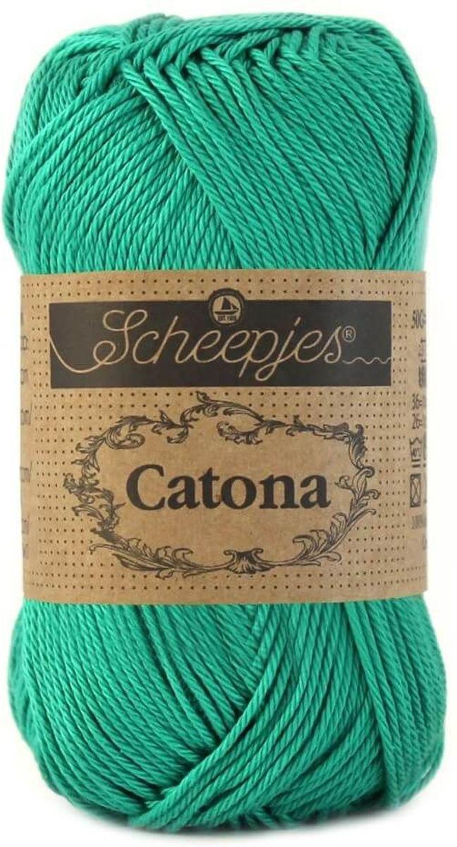 Scheepjes Catona - 514 groen [ jade ] PAK MET 5 BOLLEN a 50 GRAM. KL.NUM. 1. kopen