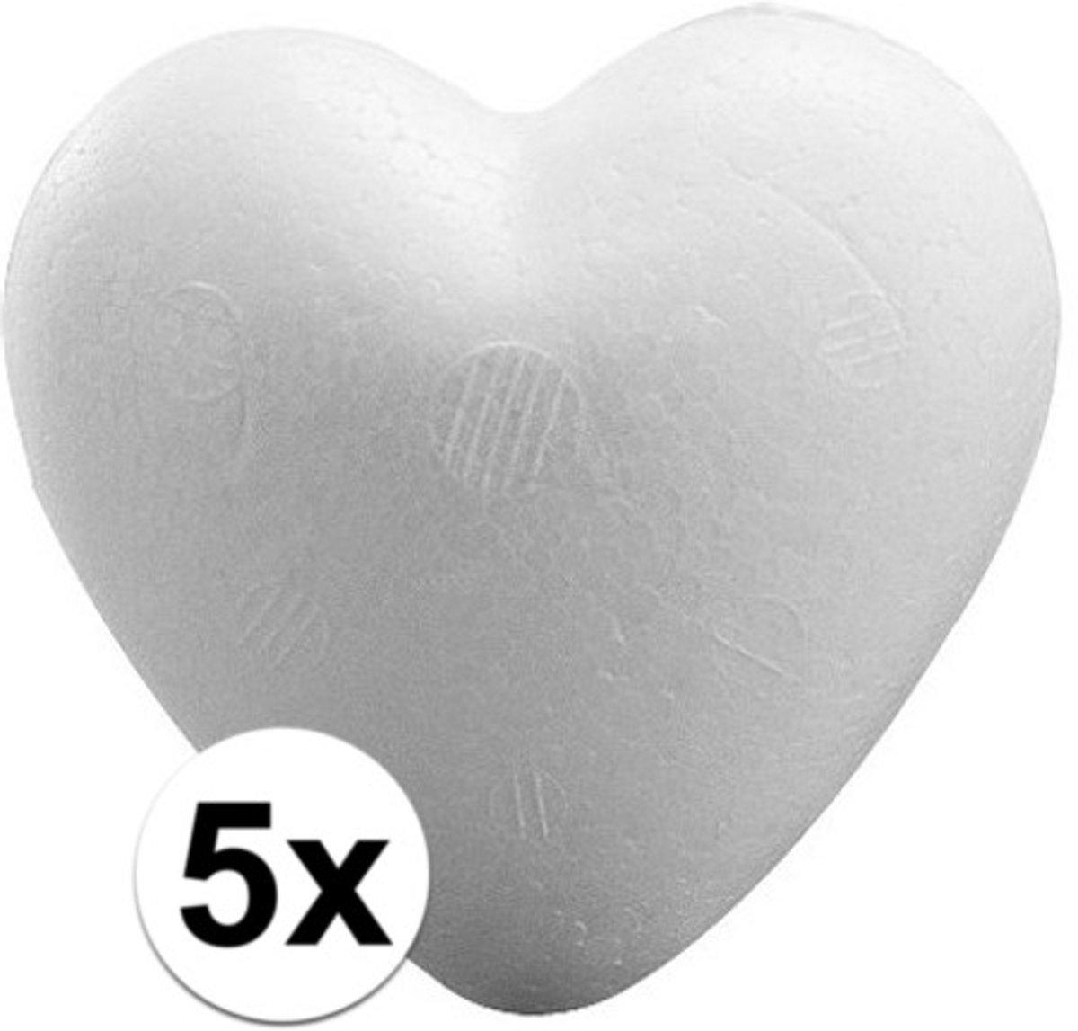 5 stuks Piepschuim harten 9 cm - Styropor vormen kopen