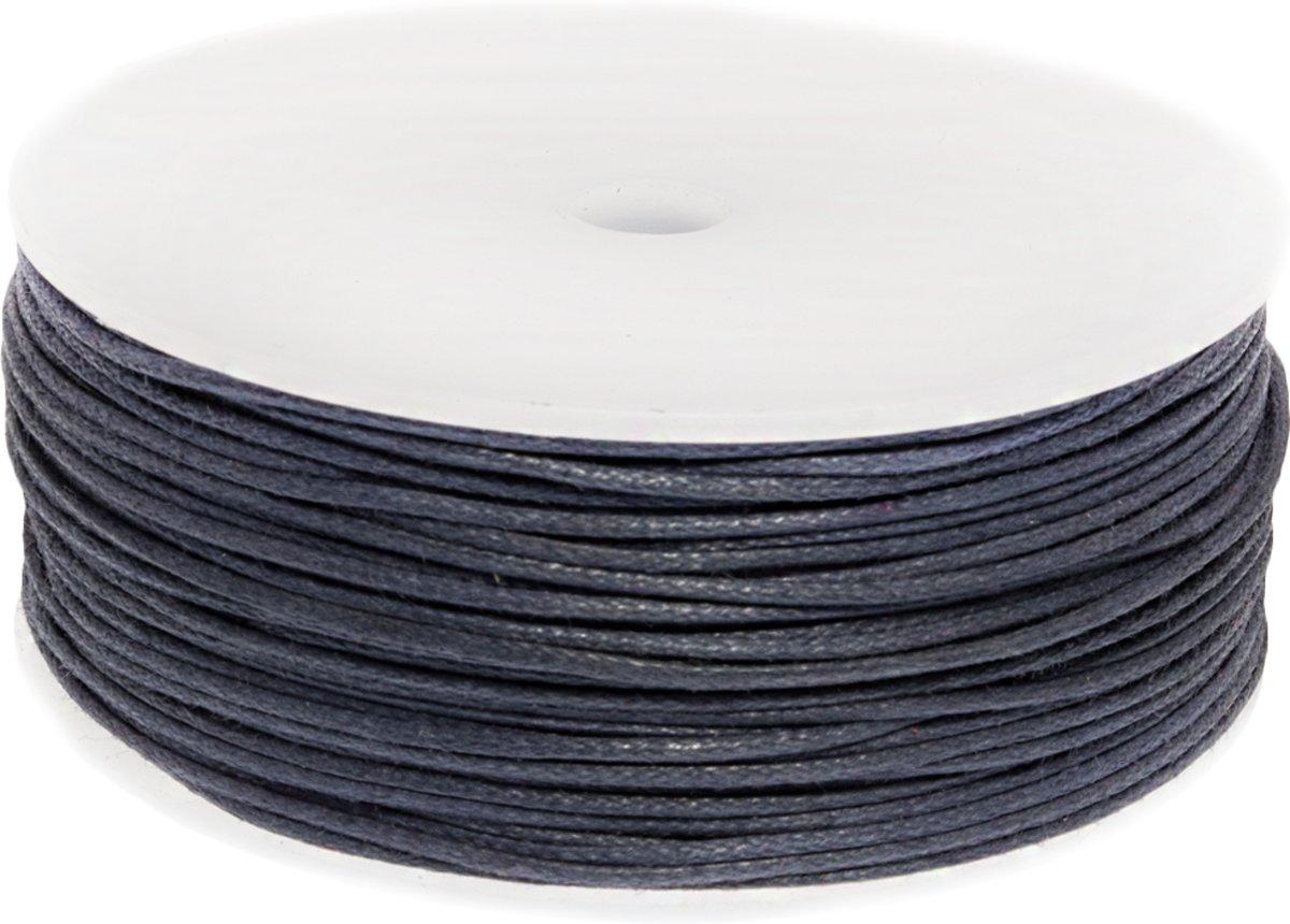 Waxkoord (1 mm) Dark Blueberry (90 Meter) kopen