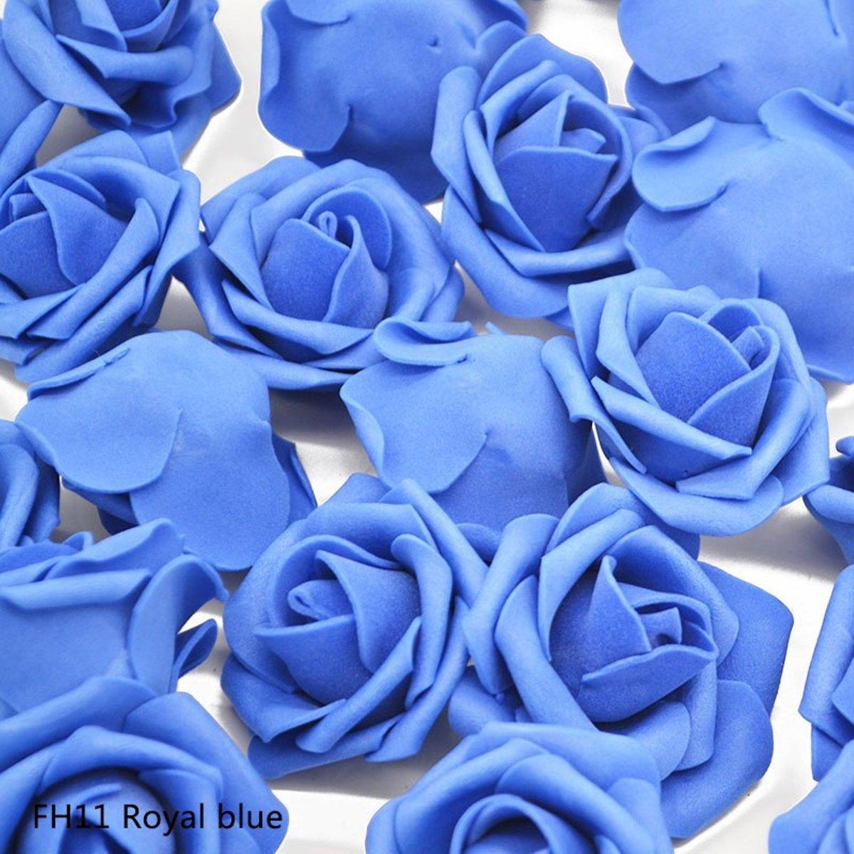 30x Schuimrozen | Foam Flower | 4cm | Royal blue kopen