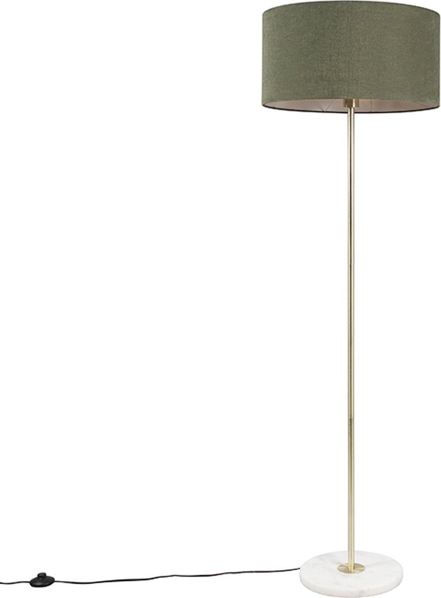 QAZQA Kaso - Vloerlamp - 1 lichts - H 1650 mm - Groen kopen