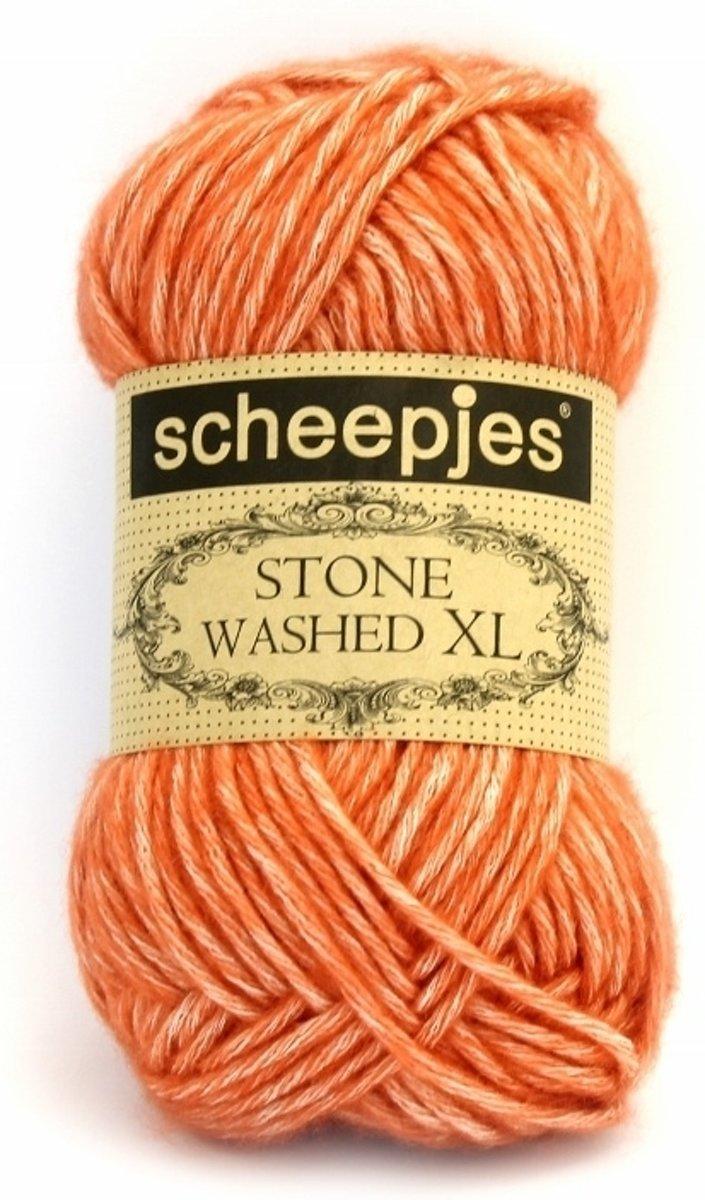 Scheepjes Stone washed XL Coral 856. PAK MET 8 BOLLEN a 50 GRAM. KL.NUM. 12316. kopen