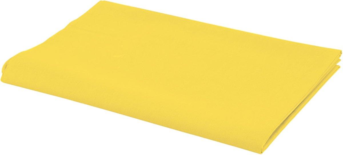 Stof, b: 145 cm,  140 g/m2, geel, 1str.m [HOB-440810] kopen