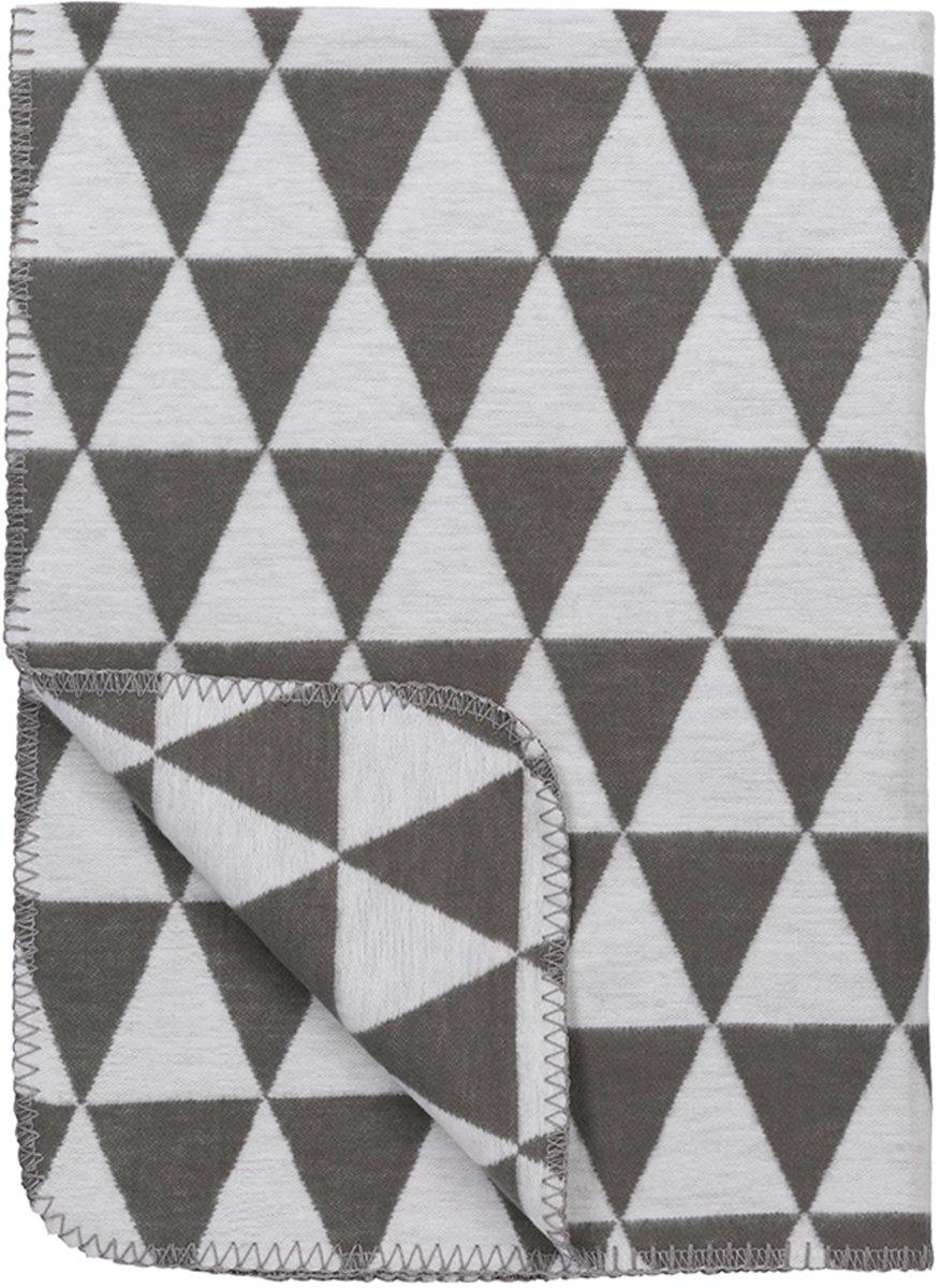 Meyco Triangle bio wiegdeken - 75 x 100 cm - grijs