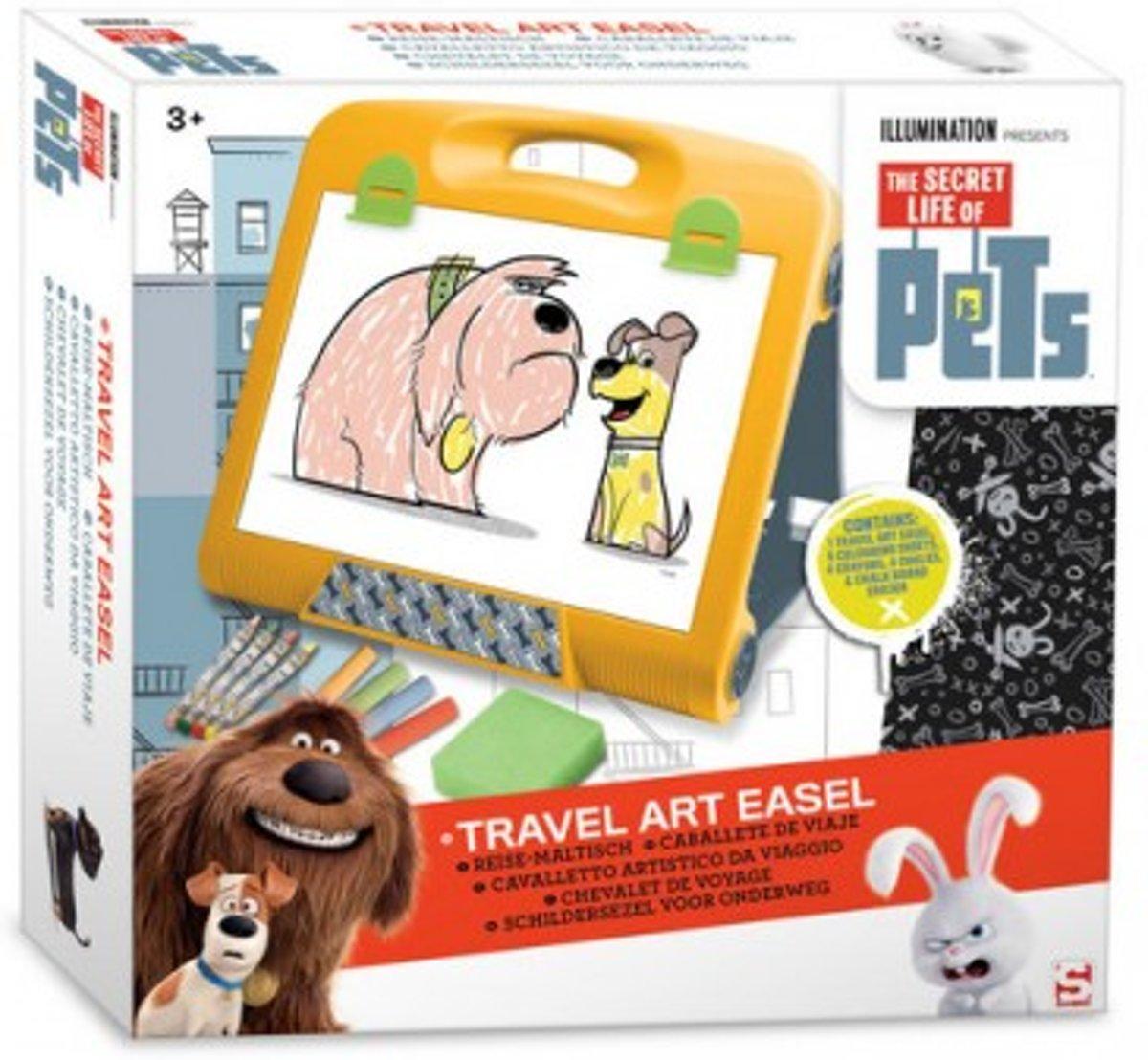 The Secret Life of Pets Schildersezel Reismodel – 35x34x7cm | Tekenbord voor Onderweg | Tekenen in de Auto kopen