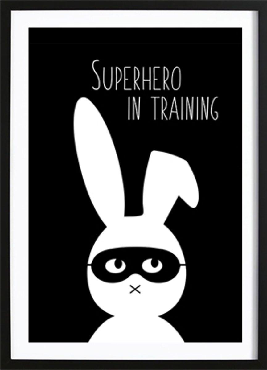 Superhero (29,7x42cm) - Kinderen - Poster - Print - Kinderkamer - Wallified kopen