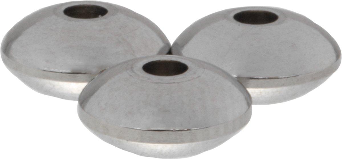 Stainless Steel Kralen (4 x 8 mm) Antiek Zilver (10 Stuks) kopen