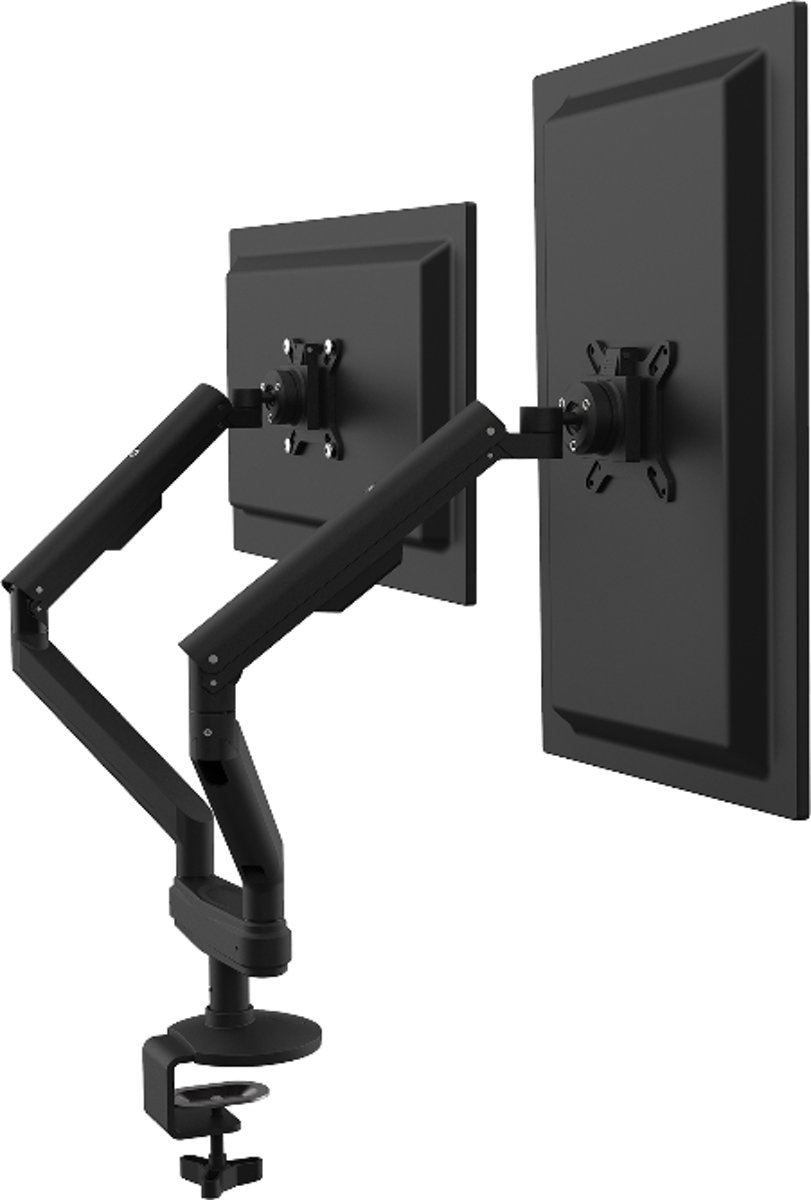 Dual ergo monitor arm