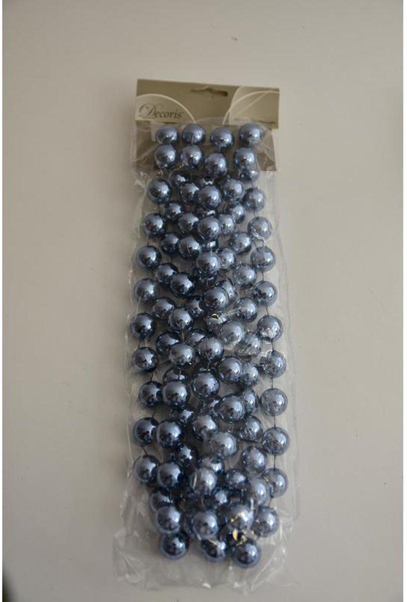 Kerstboom Versiering - Kralenketting Plastic Jeans Blauw 20mmx270cm kopen