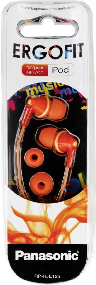 Panasonic RP-HJE125E-D Oranje Intraauraal In-ear oordopjes kopen