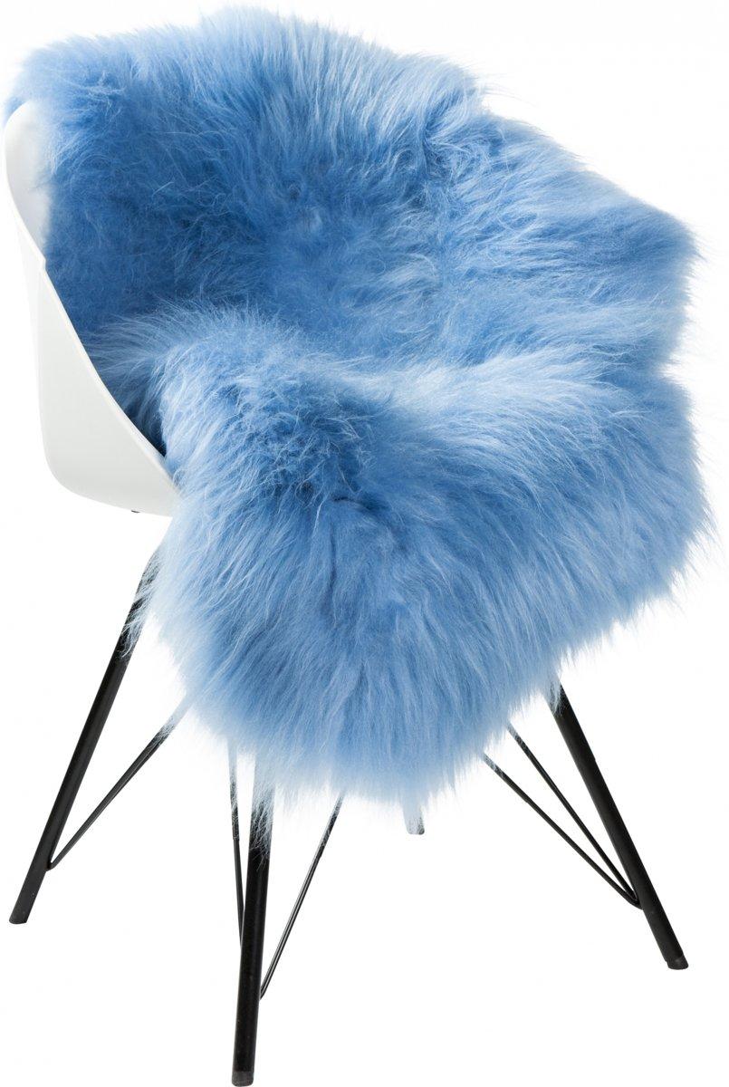 Dyreskinn Schapenvacht ijslands lichtblauw 90-110cm lengte / 60-70cm breedte kopen