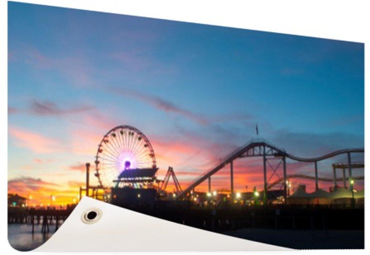 Santa Monica Pier Los Angeles Tuinposter 200x100 cm - Foto op Tuinposter (tuin decoratie) kopen