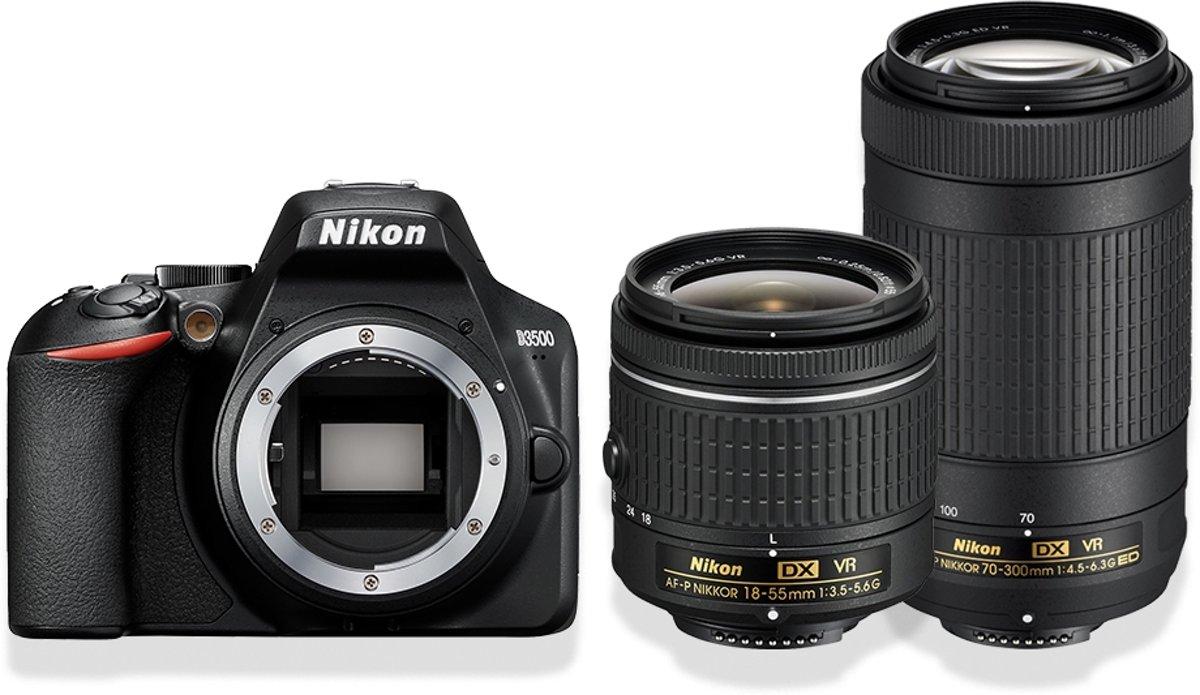 NIKON D3500 AF-P DX 18-55 VR + AF-P 70-300 VR kopen