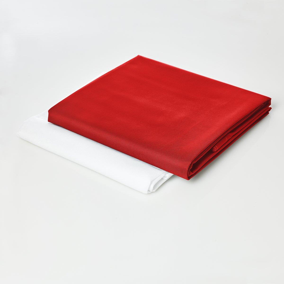 Lumaland - Hoes van luxe XXL zitzak - enkel de hoes zonder vulling - Volume 380 liter - 140 x 180 cm - gemaakt van PVC / Polyester - Rood kopen