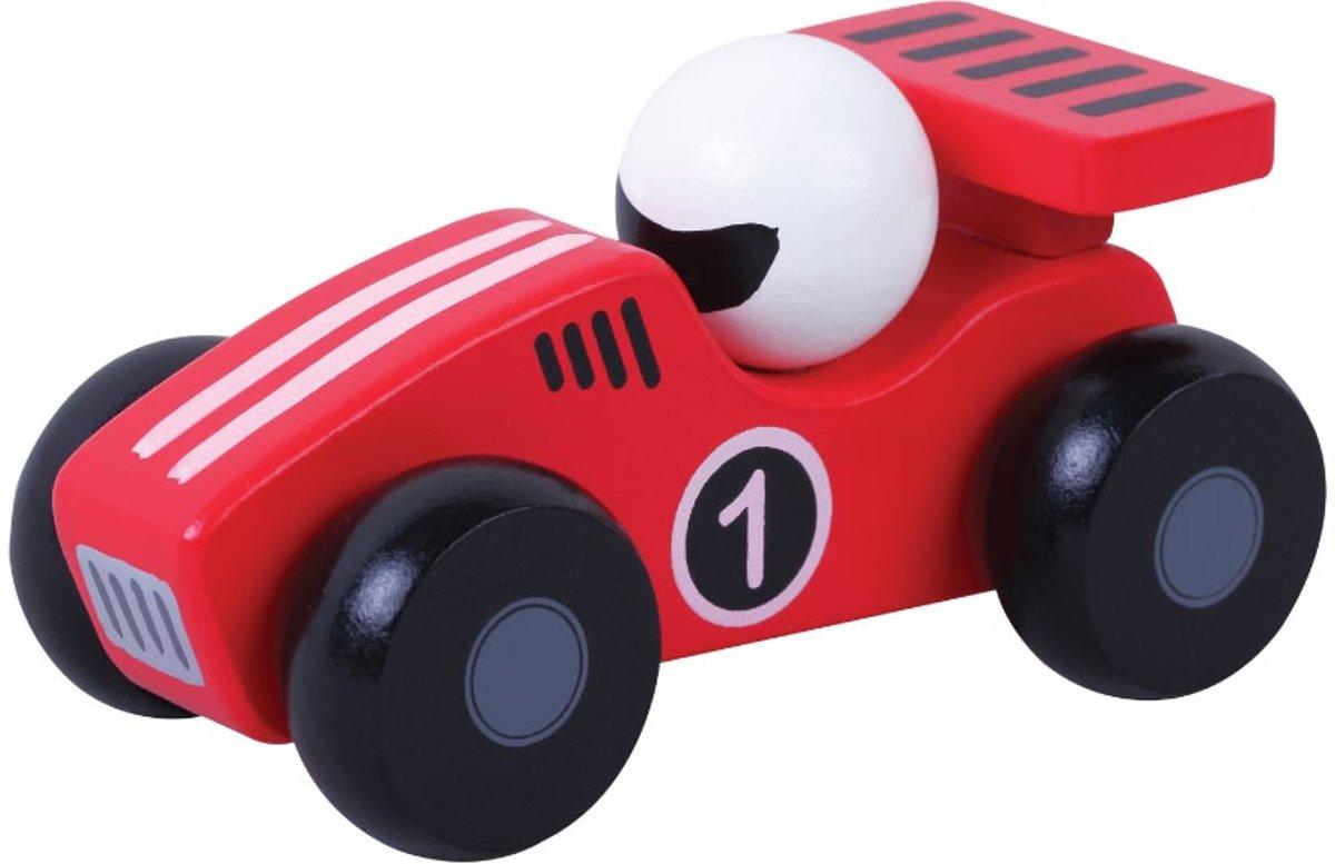Jumini Houten Raceauto Rood kopen