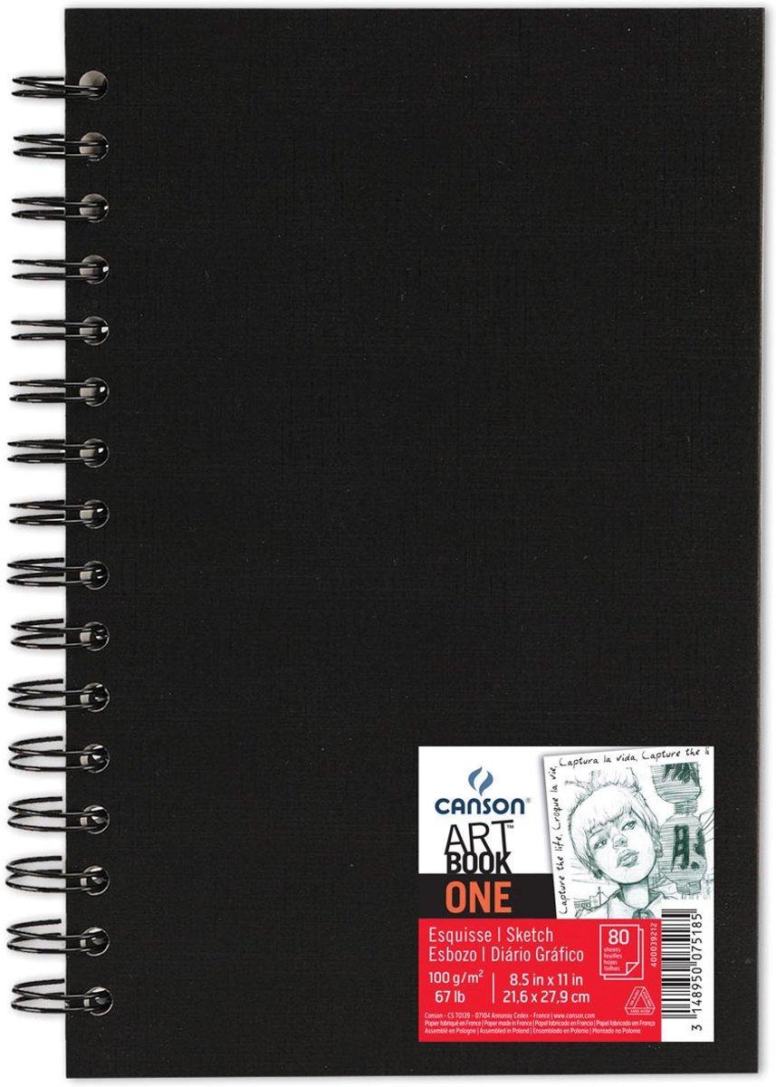6x Canson schetsblok 'Art book One' 80 vellen 21,6x27,9cm kopen