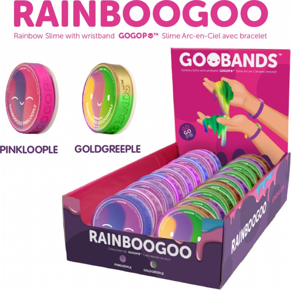 Regenboog glitter slijm - slime + Coole Goo armband - Pinkloople kopen