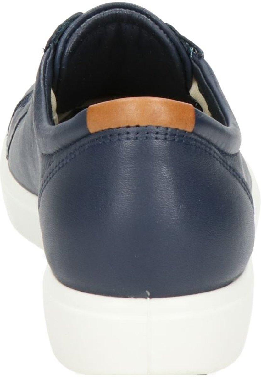 Ecco 430003 Soft 7 Veterschoenen Dames Maat 41 Blauw 01038 Marine Cow Leather
