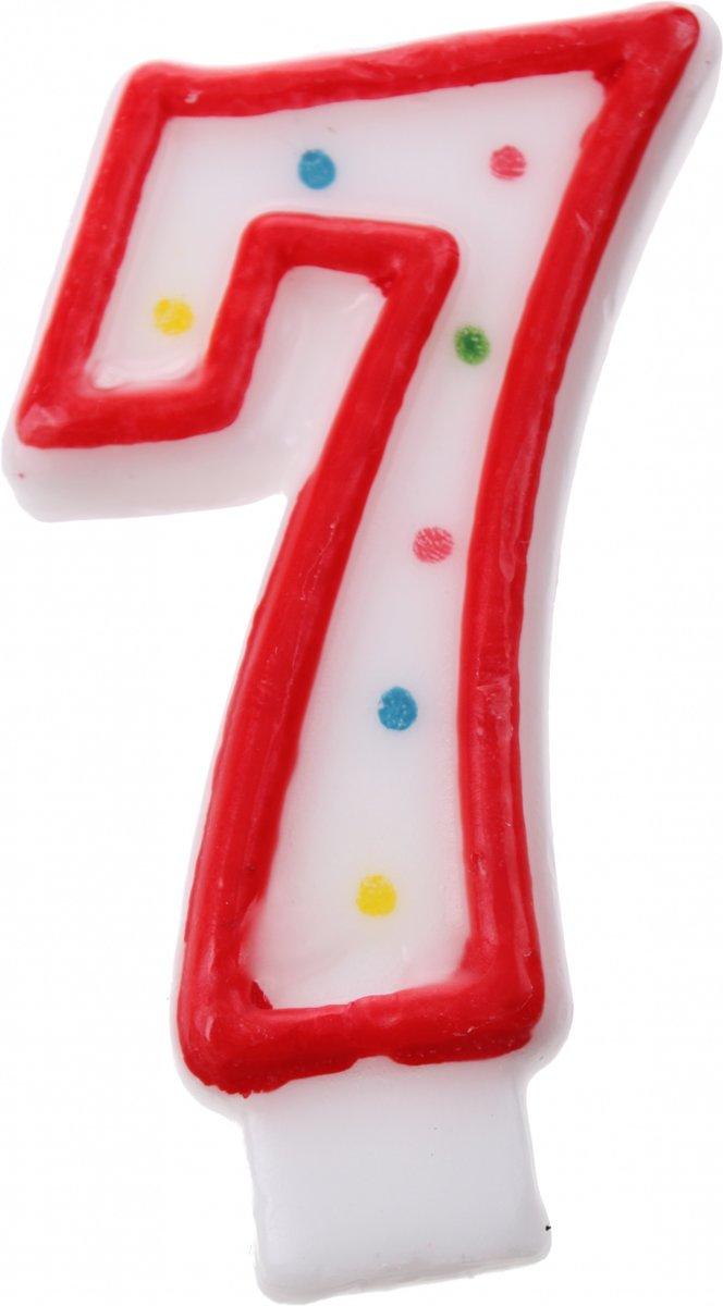 Amscan Verjaardagskaars Nummer 7 Rood kopen