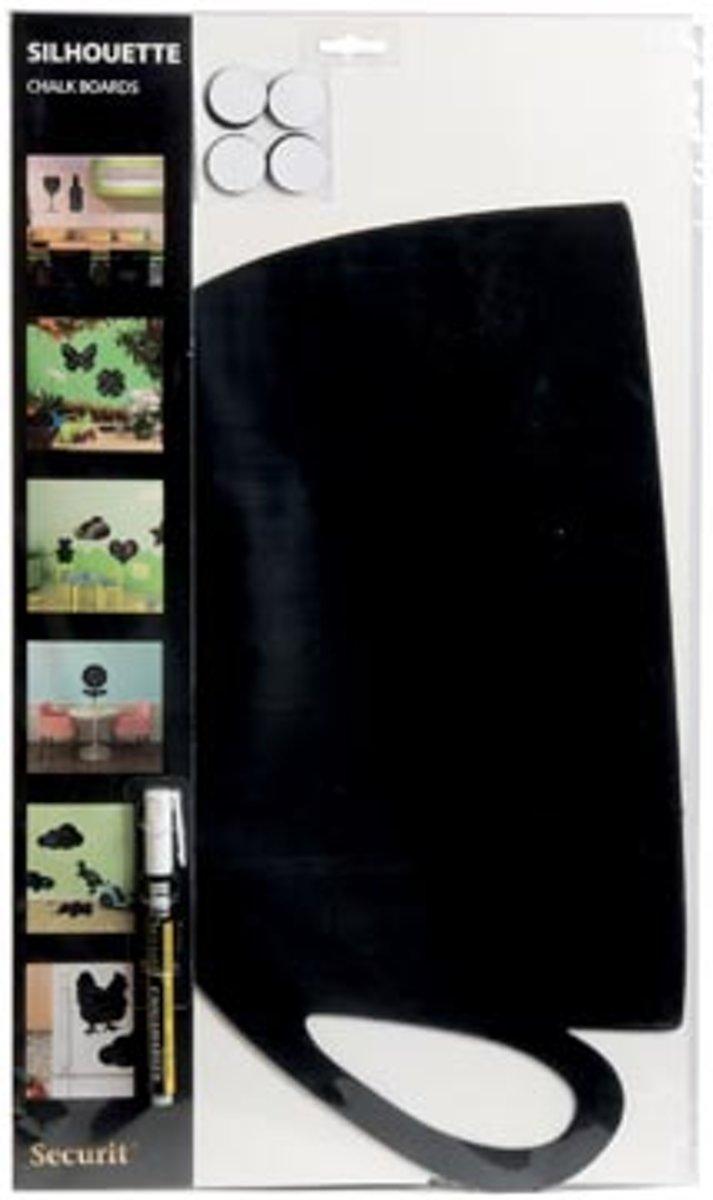 Wandkrijtbord silhouette - Kopje - Incl. 1 krijstift kopen