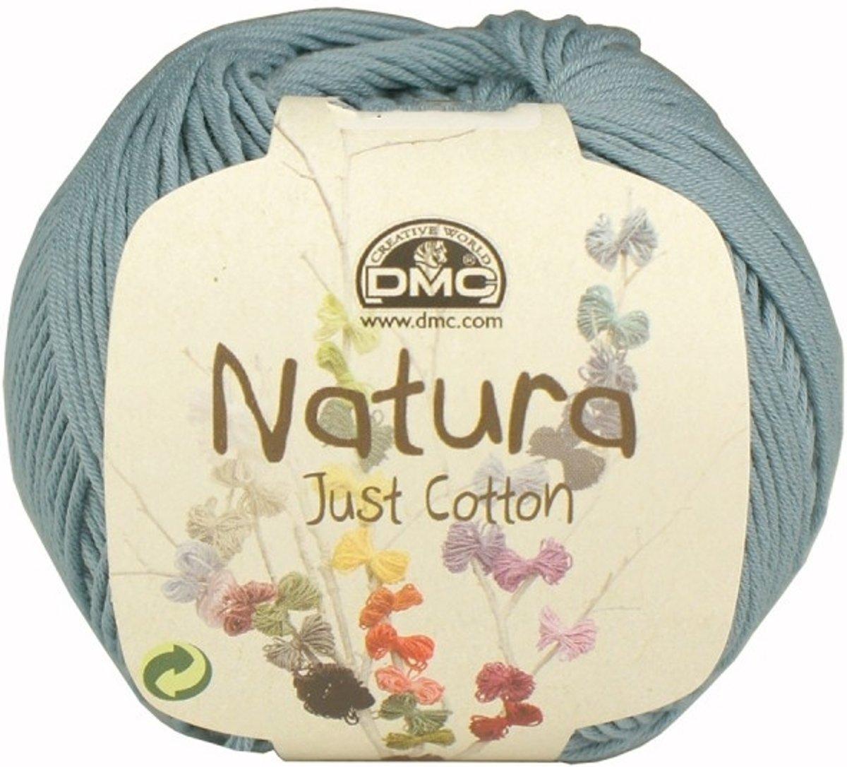 DMC Natura Just Cotton N56 Azur. PAK MET 10 BOLLEN a 50 GRAM. KL.NUM. 31. kopen
