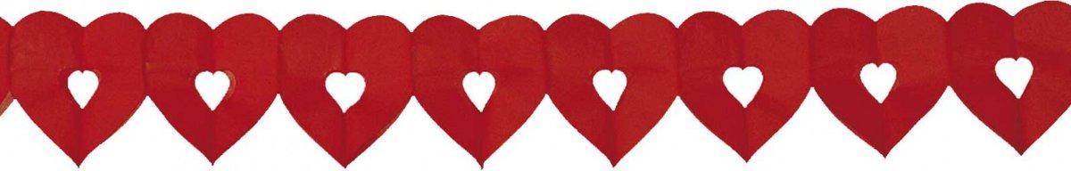 Slinger open hartjes rood kopen