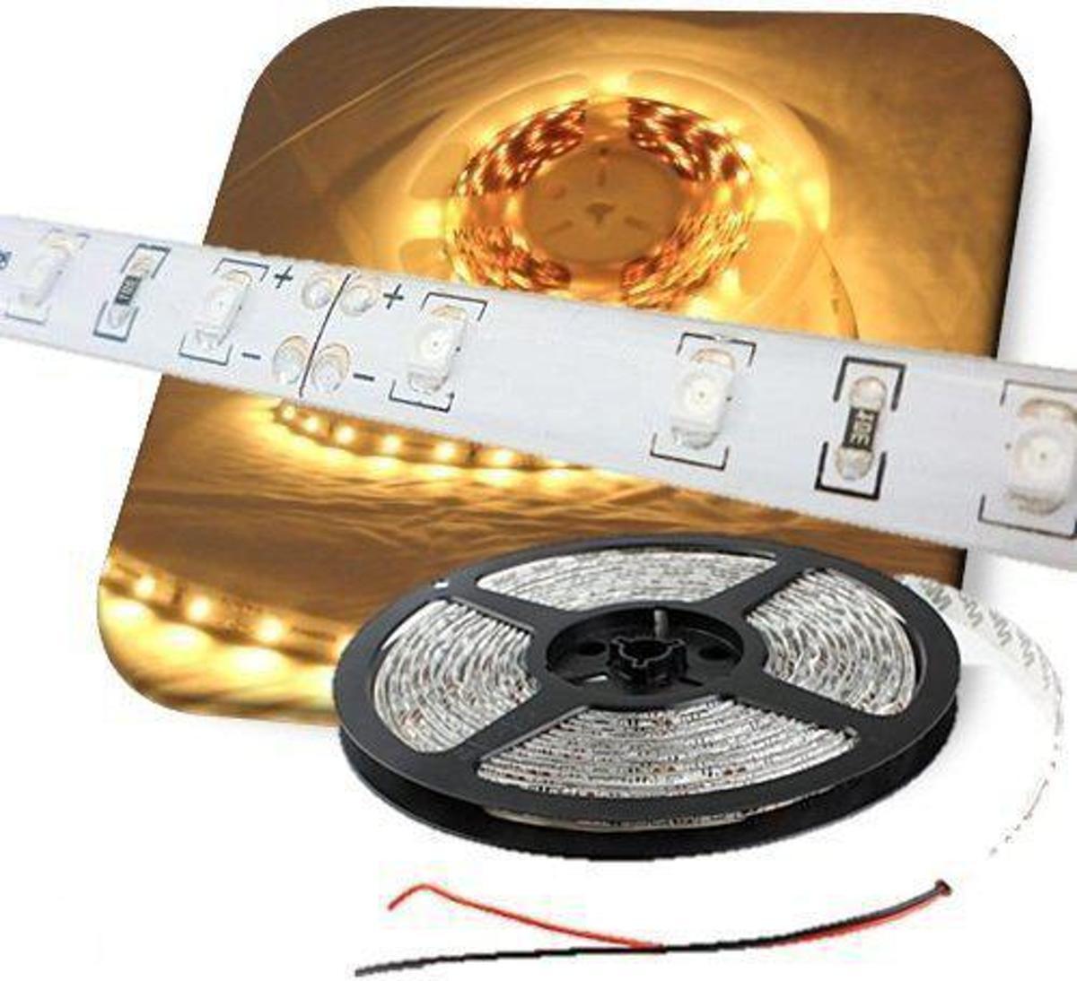 LEDstrip WARM WIT 5-meter 60 leds/meter waterproof LED strip kopen