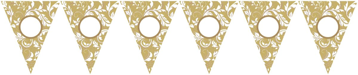 Pennant Banner Personalize It!Paper gold 790 cm kopen