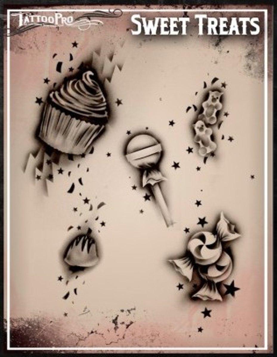 Wiser TattooPro Airbrush Sjabloon -  Sweet Treats 110 kopen
