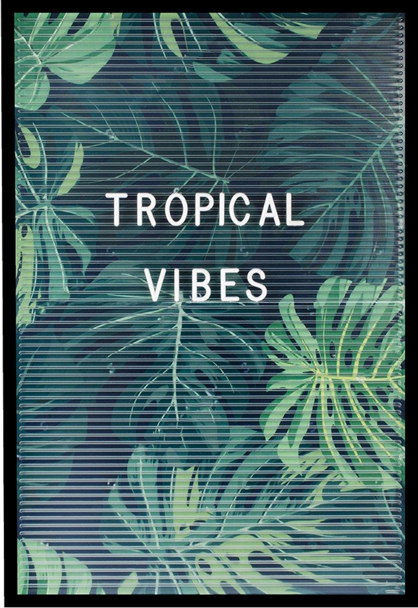 Dresz Transparant Letterbord - Tropical - 30x45cm kopen