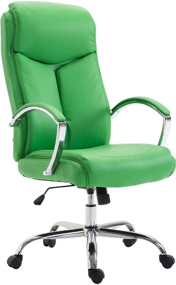 Clp Bureaustoel VAUD XL, gamingstoel, directiestoel met armleuningen, bureaustoel met hoogwaardige bekleding, max. Laadvermogen 140 kg, met kunstlederen bekleding, - groen kopen