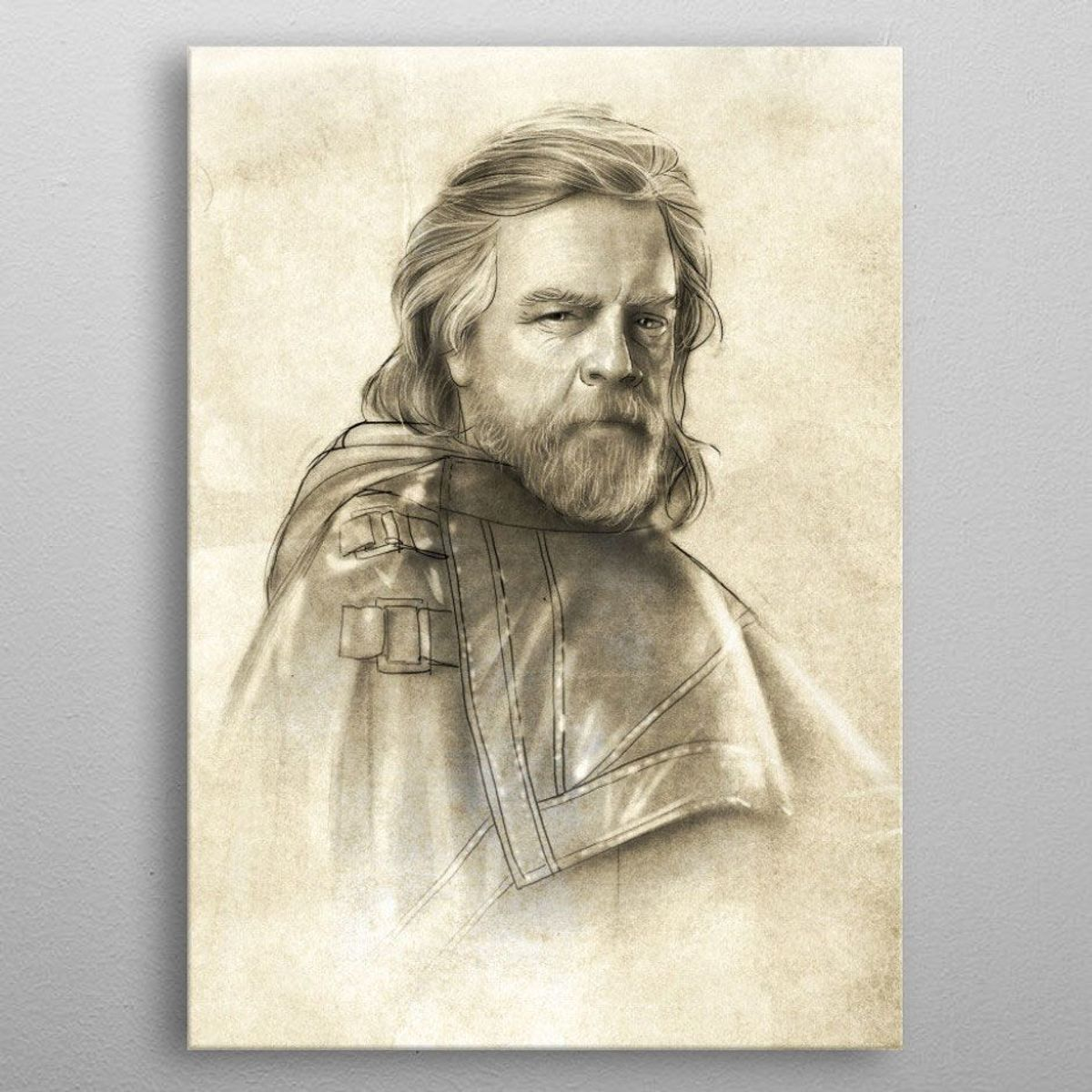 Displate Star Wars metal poster 10x14cm - Last Jedi Luke Skywalker (9999 ex.) kopen