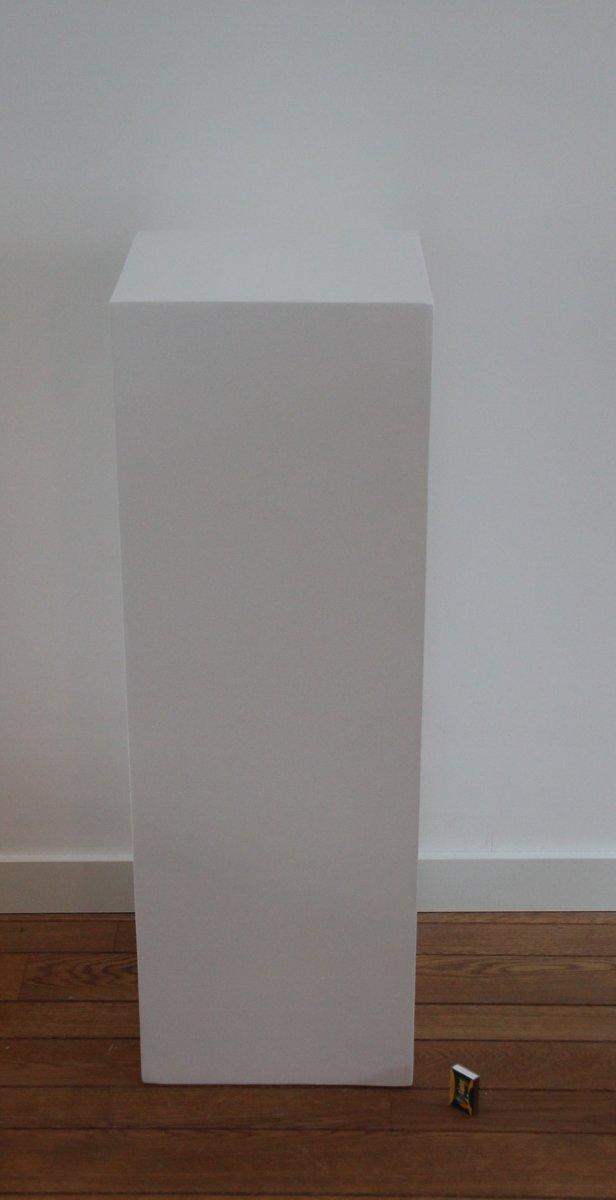 Zuil fiberstone hoogglans wit 100cm, voor binnen en buiten kopen