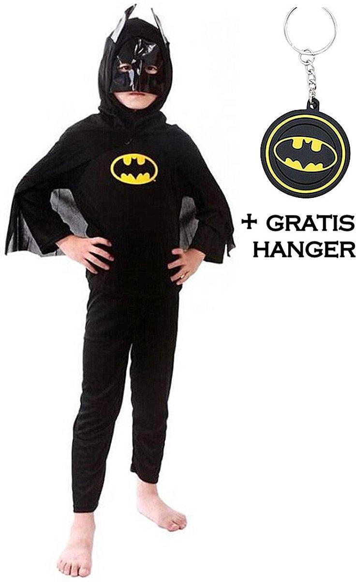 Batman Vleermuisheld bat man kostuum superheld verkleed pak kinderen 104-110 (S) + GRATIS tas/sleutel hanger verkleedkleding kopen