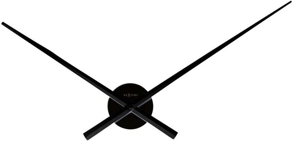 NeXtime Hands - Klok - Wijzers - Rond - Aluminium - Ø 70 cm - Zwart kopen