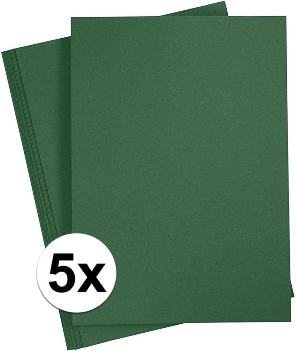 5x Donkergroen A4 vel - hobby karton 180 grams kopen