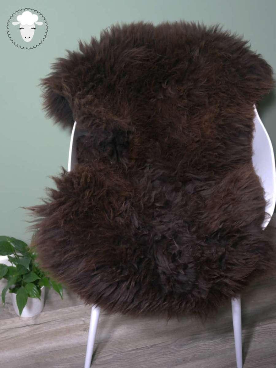 Schapenvacht Bruin LARGE (105cm) - 100% ECHT - Zeer Groot - Schapenvel Vloerkleed kopen
