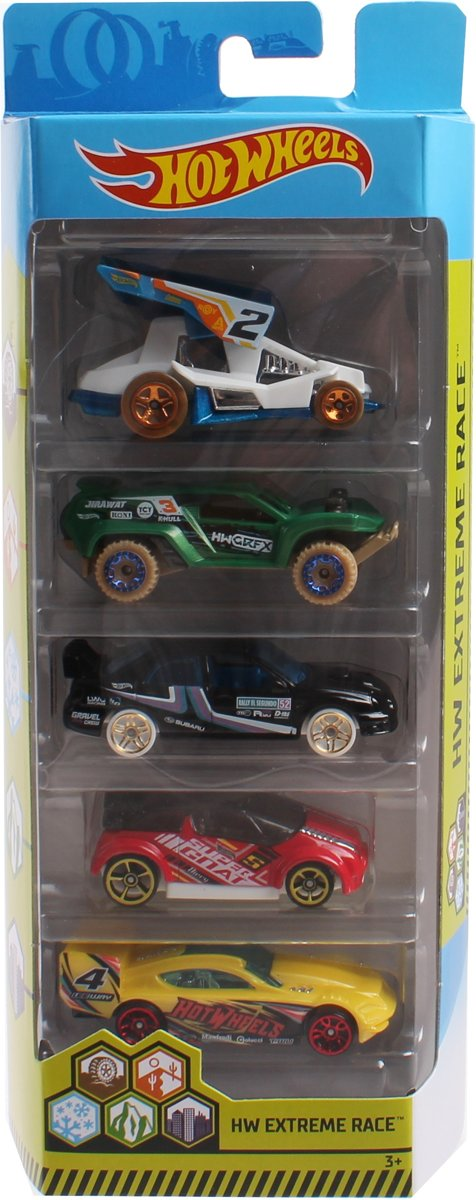 Hot Wheels Cadeauset Extreme Race 7,5 Cm 5-delig (fyl11) kopen