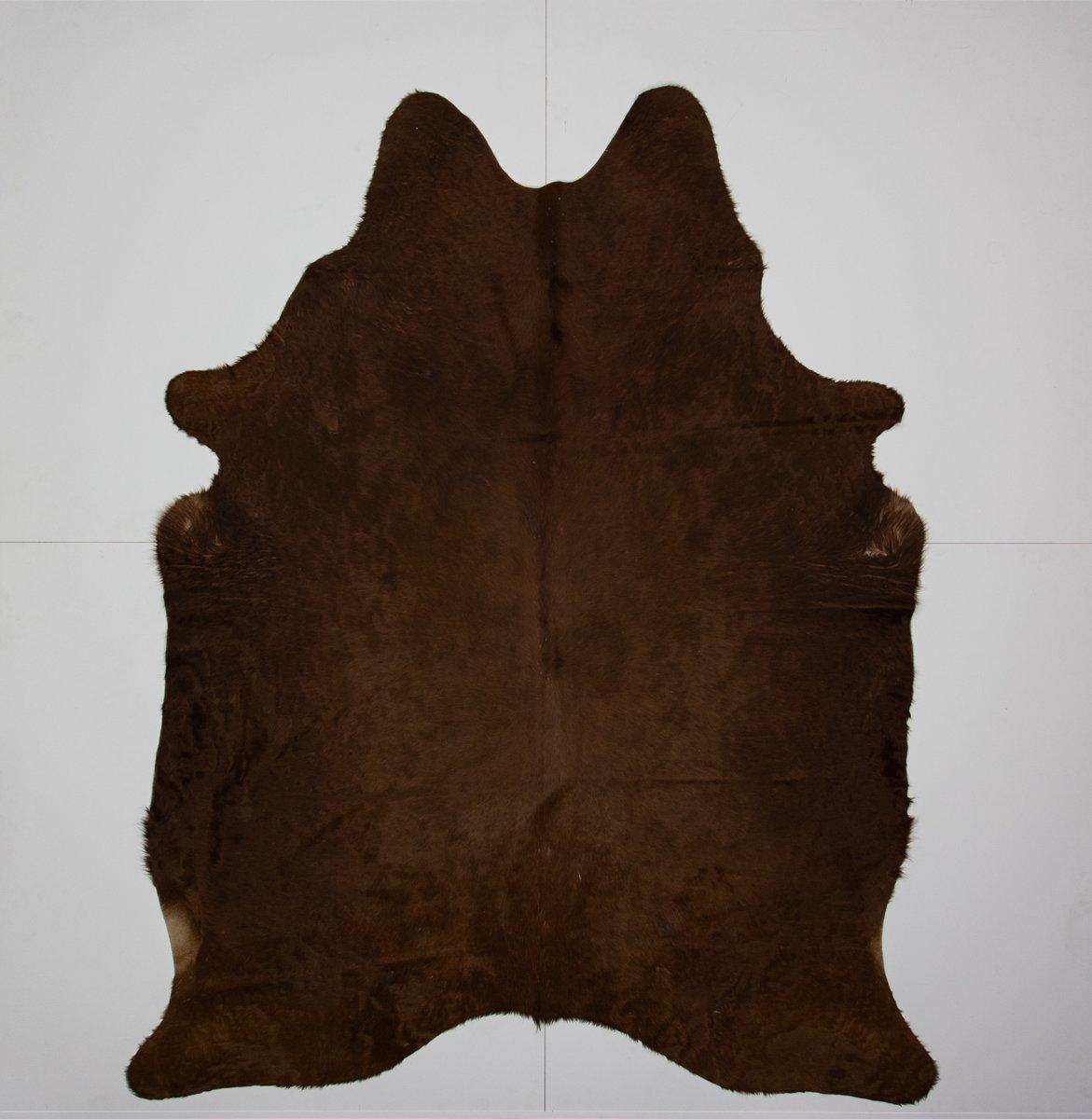 KOELAP Koeienhuid Vloerkleed - Bruin Egaal Langharig - 180 x 225 cm - 1000828 kopen