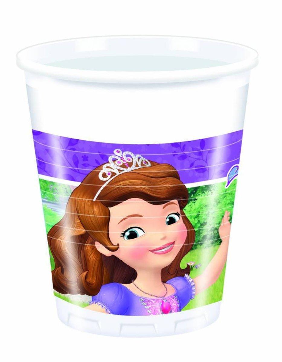 Sofia het Prinsesje Bekers Mystic Isles Plastic 200ml 8 stuks