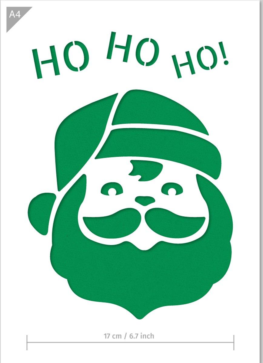 Kerstman sjabloon - Kartonnen A4 stencil - Geschikt voor kerstdecoratie, als raamsjabloon, decoratie van meubels & interieur, stenceling van kaarten, taarten, en veel meer... kopen
