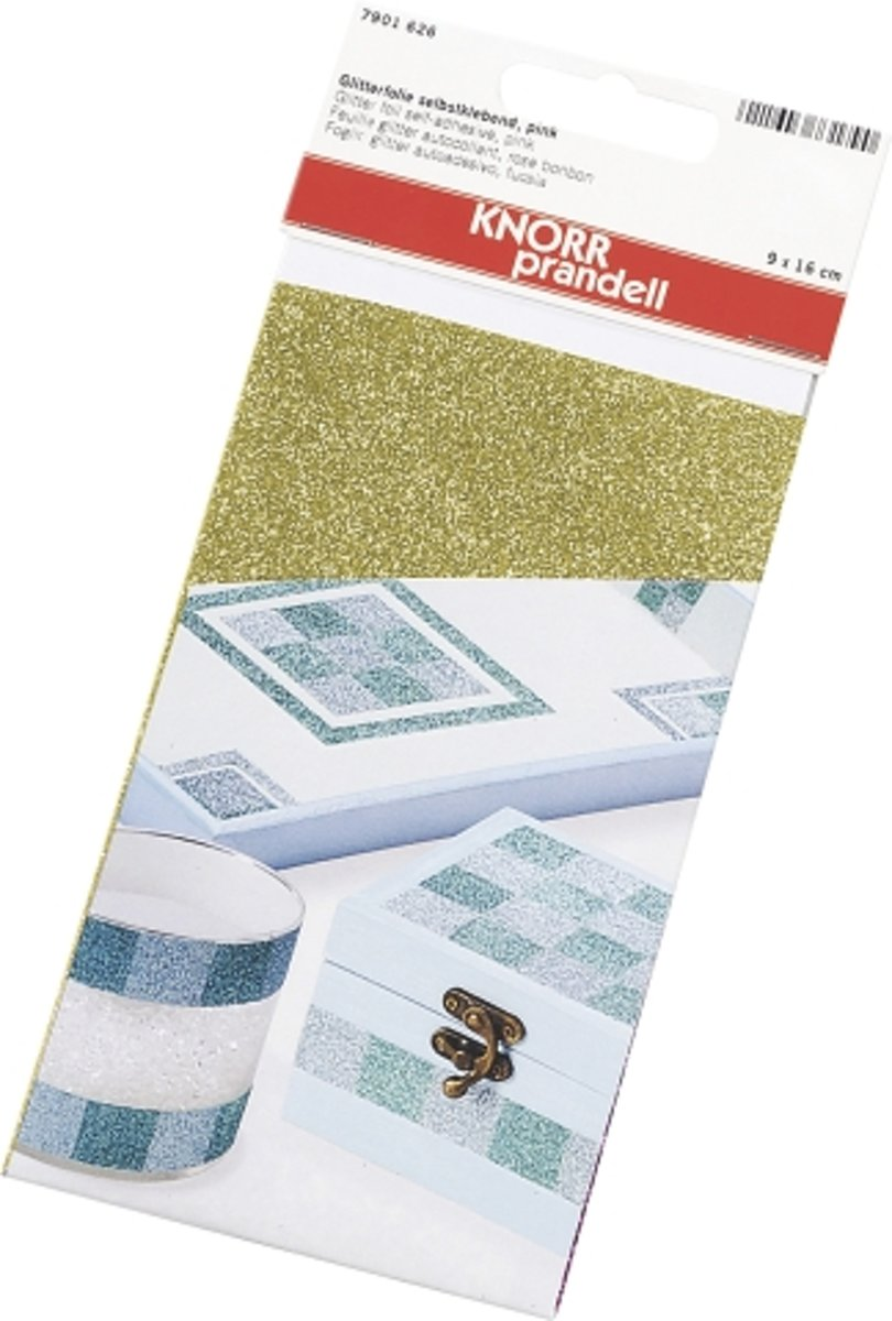 KNORR prandell Glitter strijkfolie A4 formaat goud 3 PAKJES a1 STUKS. OP=OP kopen