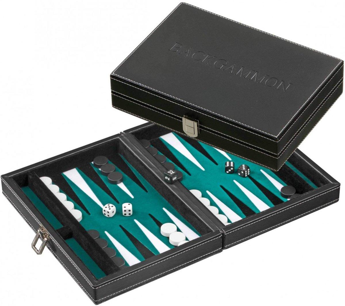 Philos Backgammon Tinos klein groen magnetisch