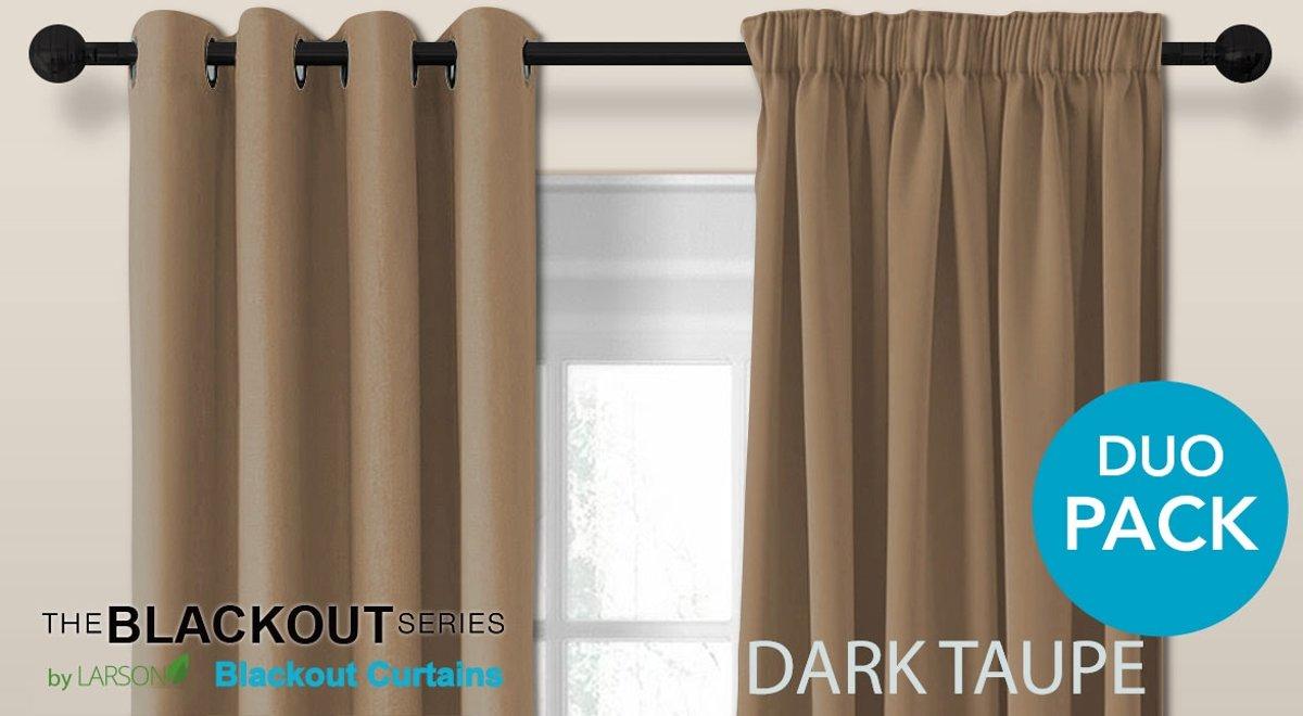 bol.com | Luxe blackout gordijn met haak – donker taupe 1.5x2.5m ...