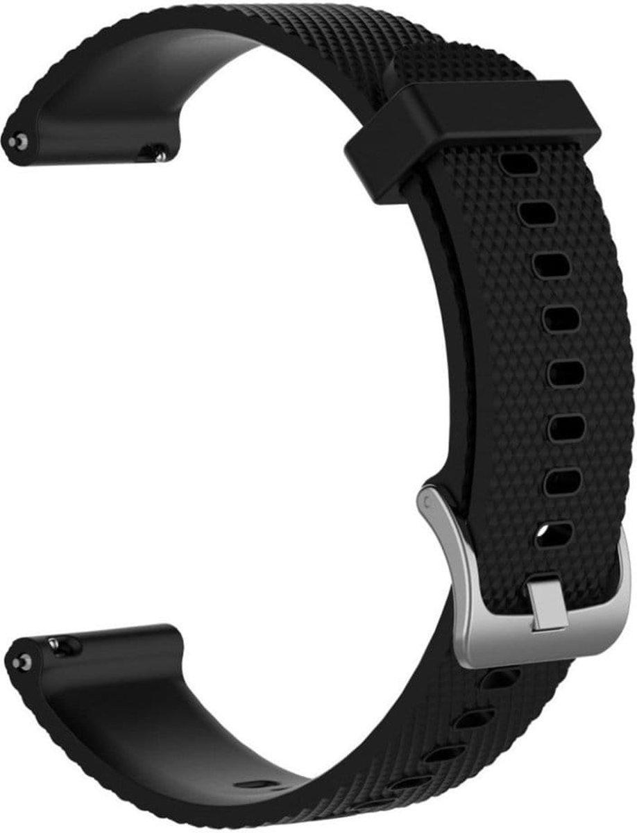 Horlogeband voor Garmin Vivoactive 3  - siliconen - zwart kopen