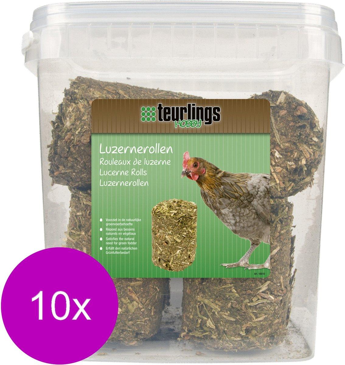 Teurlings Luzernerollen - Kippenvoer - 10 x 2 kg kopen