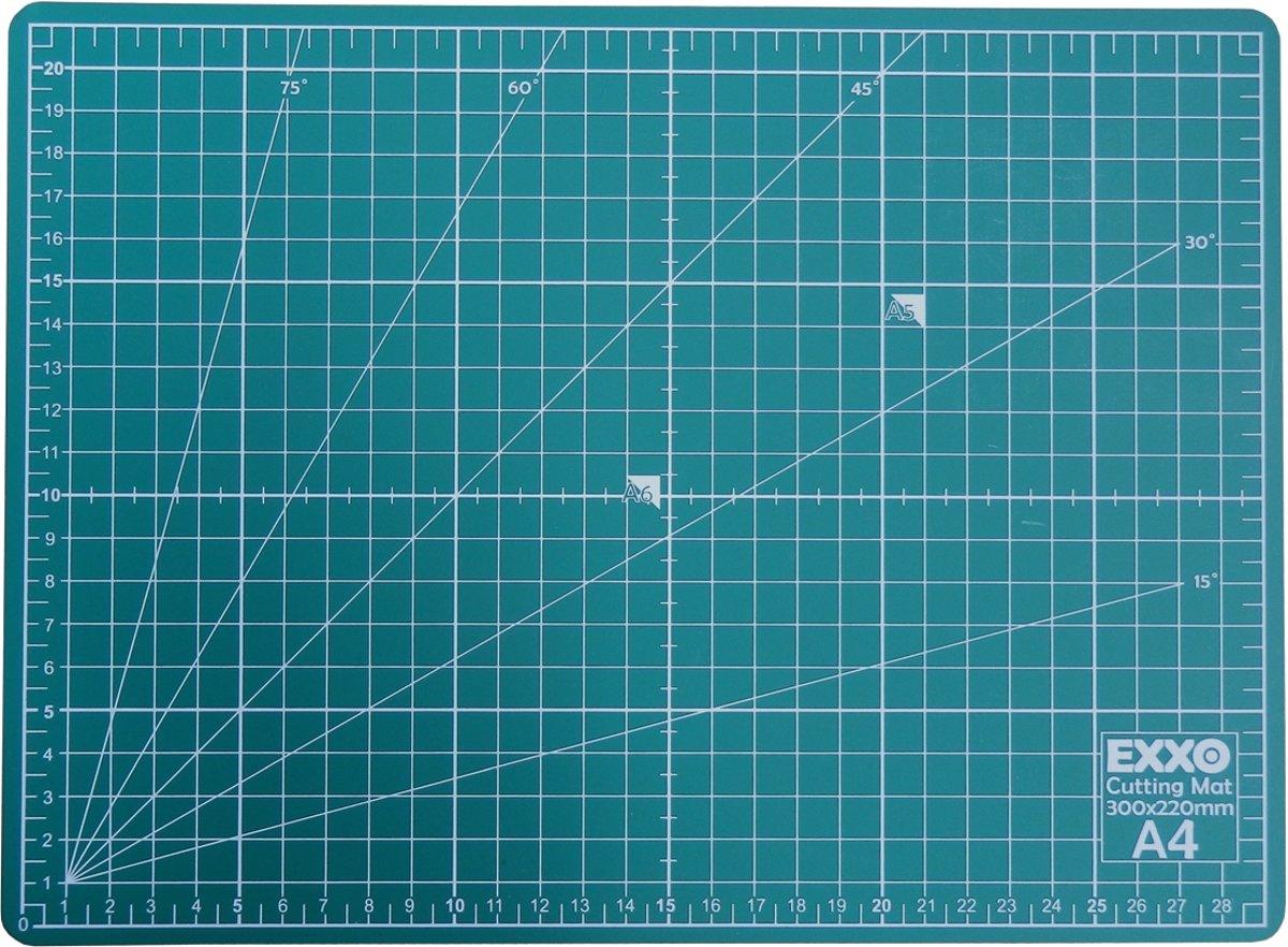 EXXO #10050 - A4 Snijmat; 5-laags zelfhelend; 2-zijdige rasterdruk; 22x30cm kopen